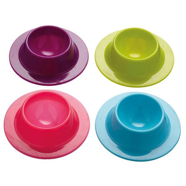 Colourworks Copos para ovos em silicone - conjunto de 4 Imagem