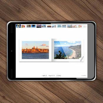 Álbum fotográfico digital da Lovephotobooks, horizontal