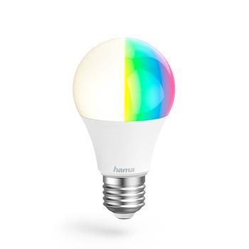 Lâmpada Wi-Fi LED da Hama − E27, 10W, RGB