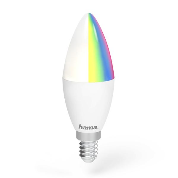 Lâmpada Wi-Fi LED da Hama − E14, 4,5W, RGB Imagem